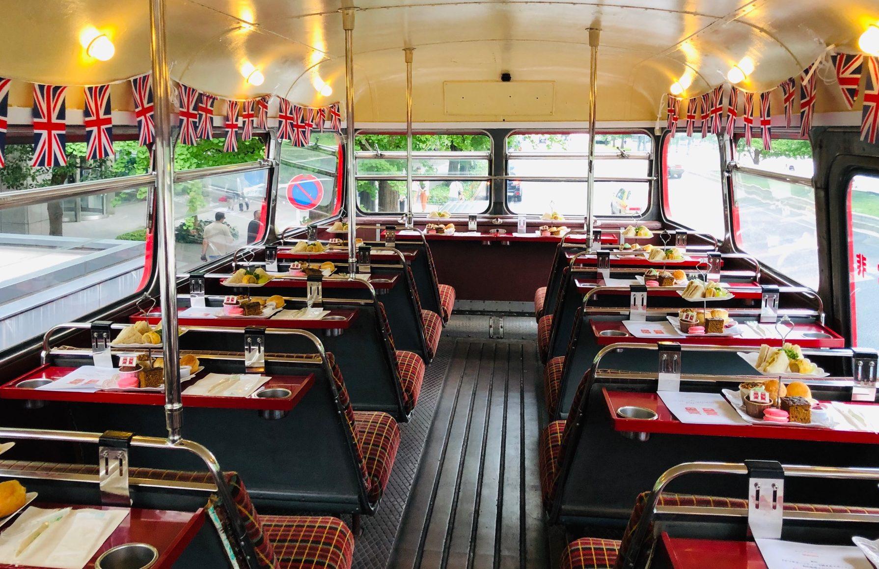 ロンドンバスでアフタヌーンティープロジェクト、スタートしました!